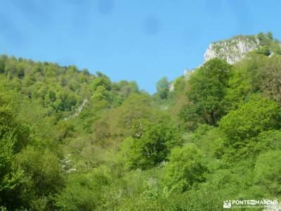Ruta Cares-Picos de Europa; refugio renclusa viajes en autobus parque natural de verdon cascada de m